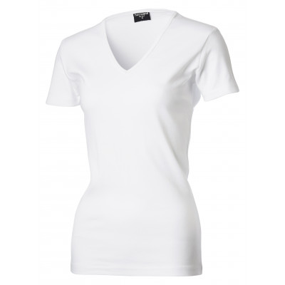 View dames interlock t-shirt met v-hals - HURR50227