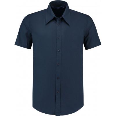 Overhemd Poplin Korte Mouw